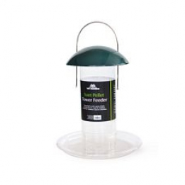 Suet Pellet Tower Feeder - Green