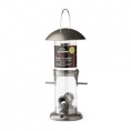 Seed Tower Feeder - Silver & Black 4 Port