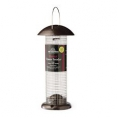 Peanut Tower Feeder - Silver & Black Large